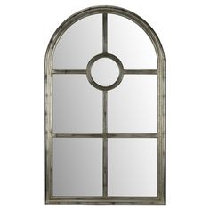 Add a touch of classic elegance to your entryway or living room with this lovely wall mirror, showcasing an aged silver finish and windowpane-inspired paneli...