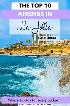 Heading to San Diego? This is a list—by a local—of the top 10 beachy Airbnbs in La Jolla, one of San Diego's most upscale neighborhoods. From surf shacks to luxe oceanfront retreats, your perfect vacation getaway awaits. Read more here. La Jolla California where to stay | San Diego Airbnbs | where to stay in San Diego | Things to do in La Jolla | La Jolla Cove | California bucket list | best California Airbnbs | San Diego travel tips La Jolla Beach, La Jolla Cove, Rock Pathway, La Jolla California, San Diego Travel, Ocean Sounds, Surf Shack, Rooftop Deck, Beach Cottages