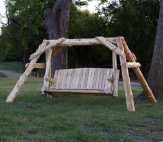The Cedar Lake Massive Log Swing - Great for looking at the lake