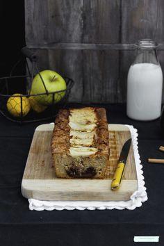 Bizcocho de nutella y manzana fácil