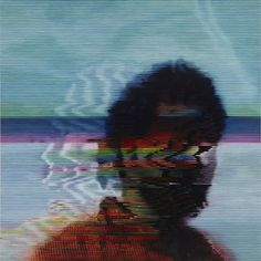 Recreating VHS-style blurry imagery through traditional painting techniques by Kon Trubovich