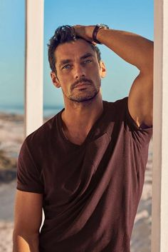 British supermodel David Gandy continues his collaboration with major retail company Marks & Spencer, this time David Gandy added to his Autograph collection new beachwear looks.