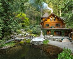 This cozy log home is beautifully nestled in the back of Mission BC Canada.