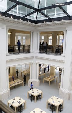 Full gallery of Apple's gorgeous flagship Amsterdam Hirsch building retail store