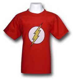 "Flash Kids Symbol T-Shirt for Liam's ""Sheldon Cooper"" Halloween costume #bigbangtheory"