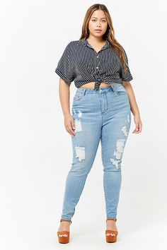Plus Size Super High-Waist Jeans