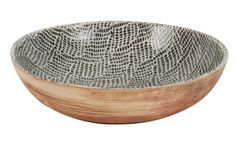Stoneware and porcelain serving bowl...that's oven and dishwasher safe. Could make a great gift, too!