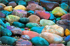 Coloured stones along Lake Huron by Robert Berdan