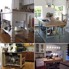10 Things We Learned from Small Cool Kitchens 2011 Butcher Block Kitchen Cart, Diy Butcher Block Countertops, Kitchen Carts, Kitchen Reno, Mobile Kitchen Island, Kitchen Islands, Kitchen Design, Kitchen Ideas, Kitchen Stuff