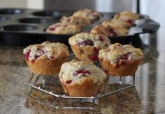 Fresh raspberries, butter, and chopped nuts make these muffins delicious and easy to prepare and bake. Try this raspberry muffin recipe for a real treat - a great way to start any day!