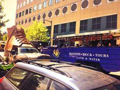 The L.L.Bean Bootmobile meets Duck Boat! #Boston