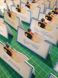 Name Cards #wedding #ducks #bride&groom by Stef Hinkley