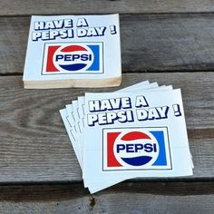 100 BULK WHOLESALE 1970s HAVE A PEPSI DAY Window Store Decal Peel Back DECALS  #Pepsi