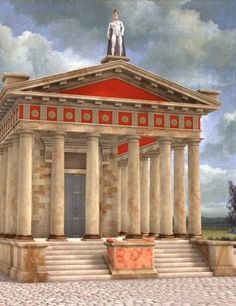Description: Temple of Mars ( DAZ Studio ) Now you can worship the God of War in rich Roman style. The Temple of Mars is a solid, many-columned Roman Doric Temple with fine marble textures. Classical Architecture, Ancient Architecture, Beautiful Architecture, Ancient Rome, Ancient Greece, Ancient History, Architecture Romaine, Roman Republic, Décor Antique