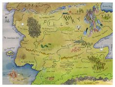 A map of Fillory, the mystic realm from Lev Grossman's novel The Magicians.