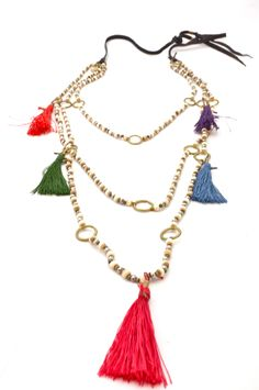 De Petra Yantra Collection Tassels and bone Necklace.