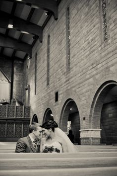 """do the """"first look"""" pics IN the church... before everyone gets there!"""