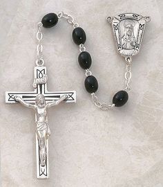 SACRED HEART Finger Rosary Ring Decade Praying Beads Hand Sliver Metal Rosary