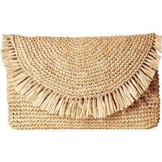 Amazon.com: Hat Attack Women's Sunshine Clutch Natural/Natural Clutch:... ($94) ❤ liked on Polyvore featuring bags, handbags, clutches, beige clutches, beige purse, beige handbags and hat attack