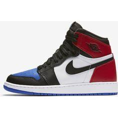 Air Jordan 1 Retro High OG Big Kids' Shoe. Nike.com ❤ liked on Polyvore featuring shoes and jordans
