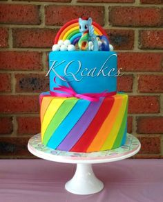My Little Pony Rainbow Dash Cake