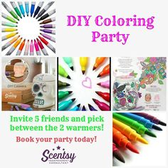 DIY Coloring the Scentsy way!!! :)  What do you think of this design?? Do you like to color, paint or do crafts? This is perfect for you!!!