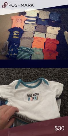 Carters 6-12 months lot Lot of over 22 pieces mainly onsies Carters  One Pieces Bodysuits