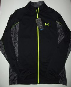 Under Armour Coldgear Track Jacket Full zip Loose fit MEN'S sz Large NWT  #UnderArmour #CoatsJackets