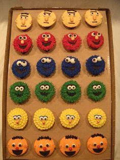 Sesame Street Cupcakes @Jenn Robles