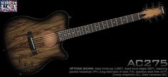 The Carvin Guitars AC275 produces the sound of an acoustic guitar, with the playability of an electric. The AC275 is extremely light and comfortable. The LR Baggs ribbon acoustic pickup and ebony bridge and TUSQ saddle produce warm acoustic tones with smooth sustain and clean open notes. Standard features of the AC275 include a mahogany body and neck, AAA Engleman spruce top, 25 inch scale ebony fingerboard with white dot inlays and chrome hardware. Made in the USA.