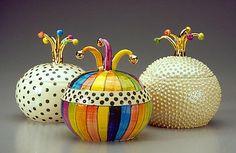sugar bowls   Mix pattern   Julia Roxburgh Ceramics   colorfull   handmadeinengland   ceramic   bestidea   tablewear