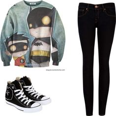 """Batman YAY!"" by ambernickerson on Polyvore"
