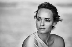 Amber Valletta by Peter Lindbergh for Douglas Cosmetics 2018 Ad Campaign