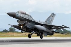 F-16 Taking Off - Two seater Launching from 111cw N.Anchialos AFB.