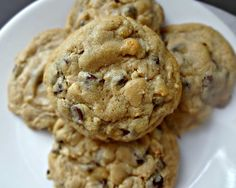 Chocolate Chip and Peanut Butter Truffle Swirled Cookies