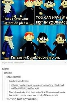 YOU CAN HAVE MY FIST IN YOUR FACE!! I'm sorry Dumbledore go on