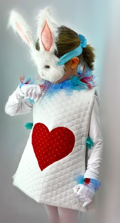 White Rabbit Halloween Costume & Mask from Alice and Wonderland for Children  (very $$$)