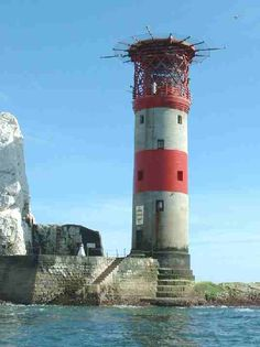 Lighthouses on the Isle of Wight are major landmarks here on the Island. The Isle of Wight is home to several lighthouses Ile De Wight, Beacon Of Light, Light Of The World, British Isles, Seaside, Solar, Scenery, Places To Visit, Around The Worlds