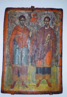 SS.COSMA E DAMIANO Steak, Painting, Art, Dios, Saints, Prayers, Bible, Byzantine Icons, Fresco