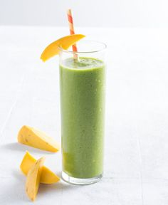 Kids won't taste spinach in this smoothie from Jen Hansard, blogger at simplegreensmoothies.com—the sweet, tropical flavors shine through. Use an orange rather than orange juice for more fiber and antioxidants. Replace the water with unsweetened coconut water for a boost of potassium.