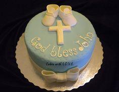 Un hermoso pastel para ese evento tan especial.. el bautizo de tu niño!