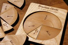 love this!! // Manipulative Math Set Learning Fractions with by JustOffNormal, $14.50