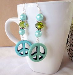 Handmade Earrings: Summer Collection, Green by Jennifer Hanson on Etsy