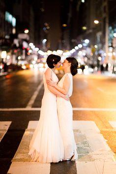 glamorous new york public library wedding