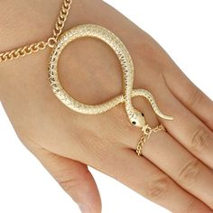 Snake Adjustable Finger and Hand Chain Bracelet One Size Jewelry – GeneralStoreProducts4U