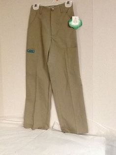 Girl Scouts Pants Junior Khaki Size 7 or 18.5 Plus New!  #GirlScouts #Pants