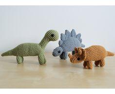 Crocheted dinosaur toys! <3