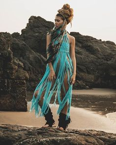 AMAZING Turquoise long top FANCINA SALVAJE #beachspirit #beachspirit #beachwedding #hippiestyle #fancinasalvaje #luxurybeach #luxurybohobrand #luxurybohofashion #ibiza #miami #california #saintbarth #saintropez #martinique #moscow #melbourne #maldivas #bahamas #formentera #boholiving #coachella #losangeles #beach