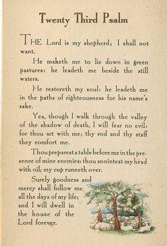 I love this Psalms: