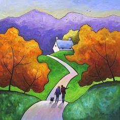Gillian Mowbray, 'Viewpoint'. Acrylic on canvas. *SOLD*